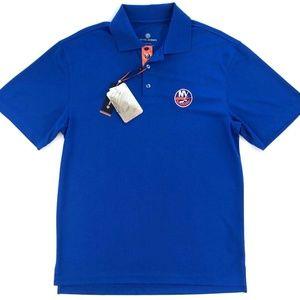 NEW YORK ISLANDERS Men's S Polo Shirt Royal Blue